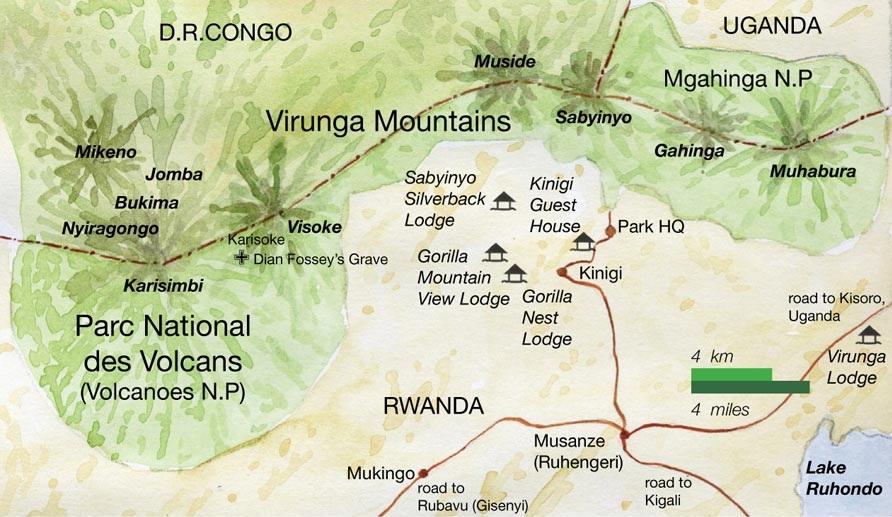 carte parc des volcans