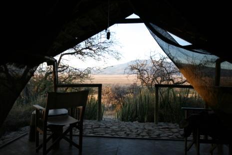 vue de ma tente à Oldupai camp