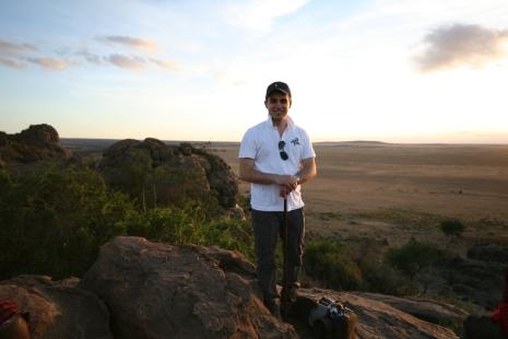 vue sur la plaine d'Olduvai